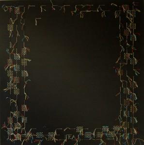 textil, gombostű, színes selyemcérna